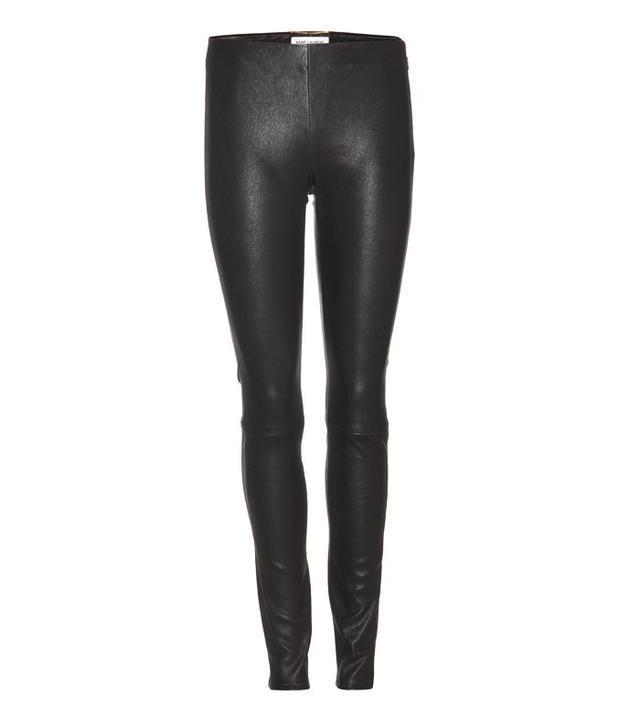 Saint Laurent Stretch-Leather Leggings