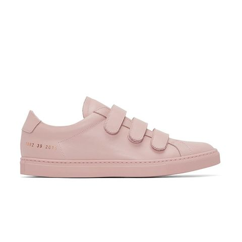 Pink Achilles Three Strap Sneakers