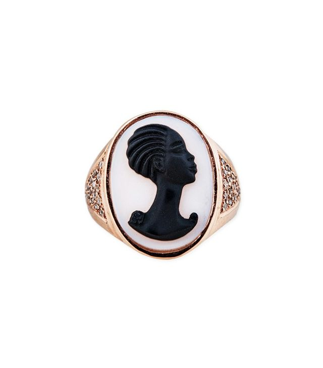 Jacquie Aiche Carved Agate Robyn Cameo Ring