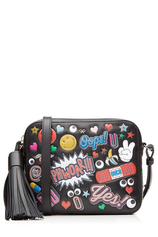 Anya Hindmarch All Over Sticker Cross-Body Leather Bag