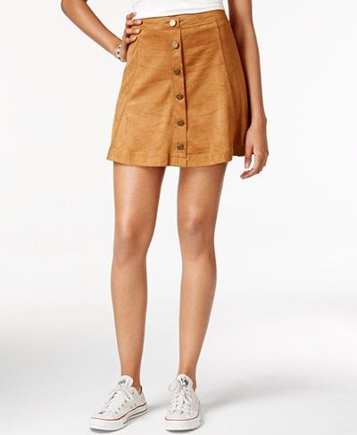 Macy's Faux Suede A-Line Skirt