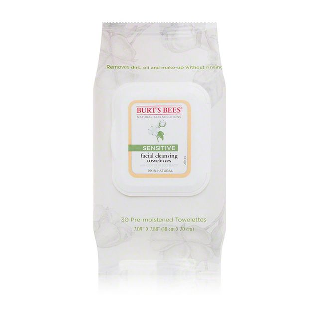 Burt's Bees Sensitive Facial Cleansing Towelettes With Cotton Extract