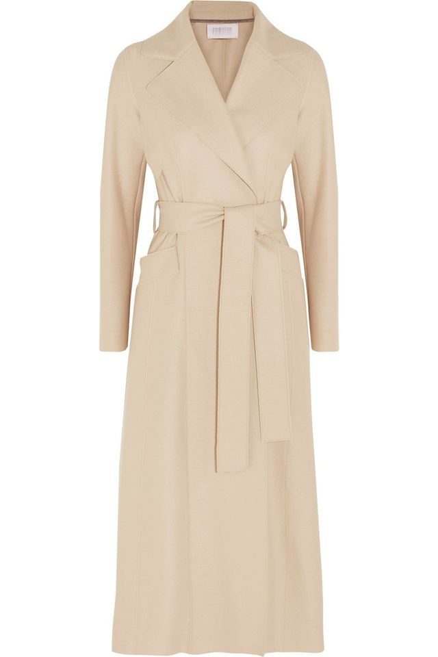 Harris Wharf London Belted Wool Felt Coat