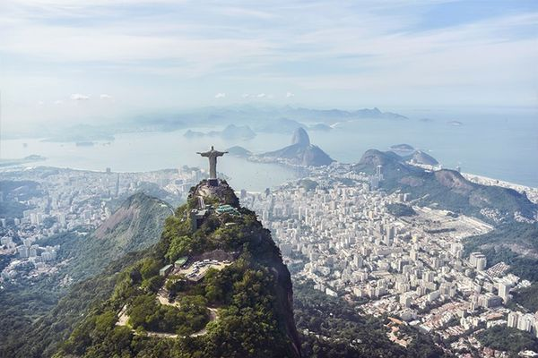 """""""OMG, the helicopter flight Louis Vuitton has planned for us turns out to be one of the most memorable experiences of my life! Flying so close to the Christ statue and Sugarloaf Mountains..."""