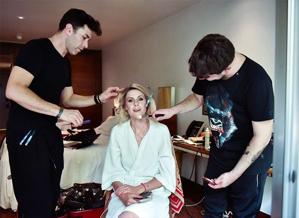 """""""Getting ready for the show! I opt for a tousled blunt bob, natural lips and smokey eyes to complement my outfit (check out my Snapchat for the secret beauty finishing touch EVERY Brazilian..."""