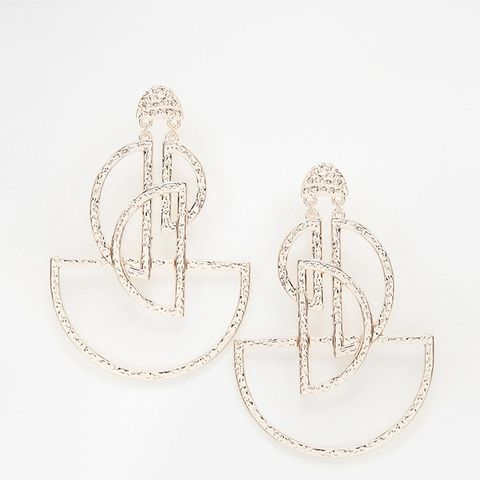 Open Semi Circle Chandelier Earrings