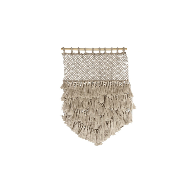 Table Tonic Jute Macrame Wall Hanging with Tassels