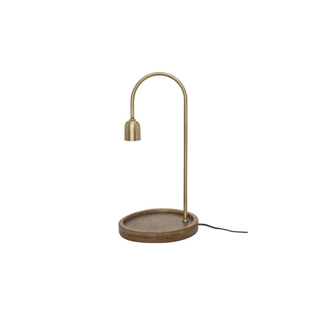 Freedom Abel Table Lamp in Brass Colour