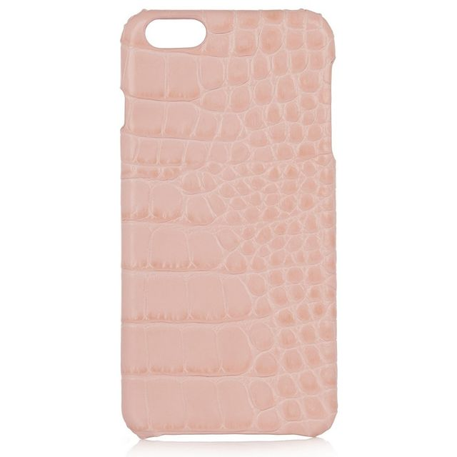 The Case Factory Croc-Effect Leather Phone Case