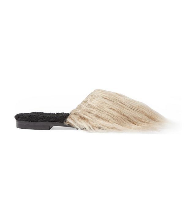 Avec Moderation Aspen Mongolia Faux Fur and Shearling Slides