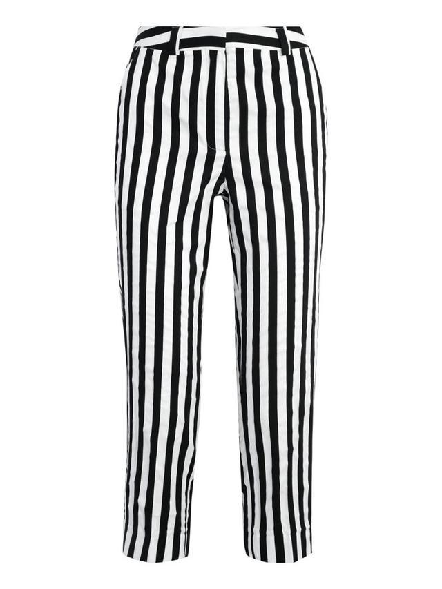 Topshop Unique Harleyford Striped Cotton-Blend Slim-Leg Pants