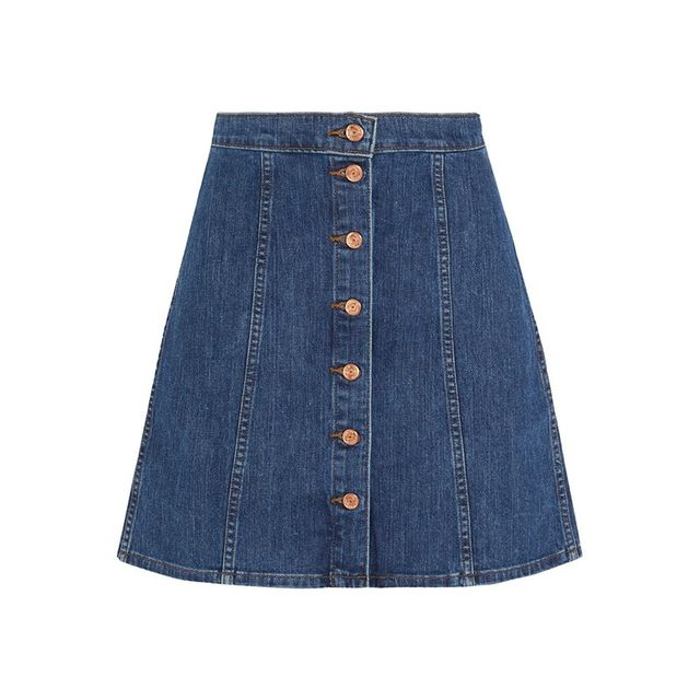 J Brand Stretch-Denim Mini Skirt