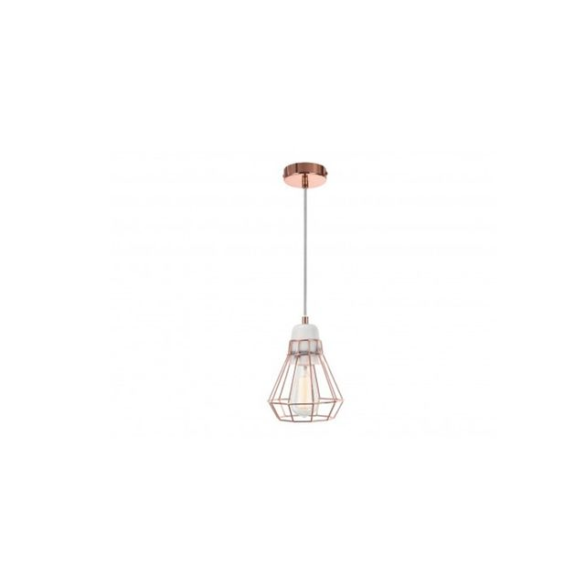 Beacon Lighting Ando 1 Light Pendant in Marble/Copper Cage