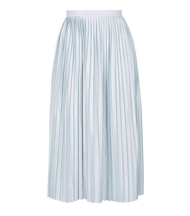 Topshop Jersey Pleat Midi Skirt