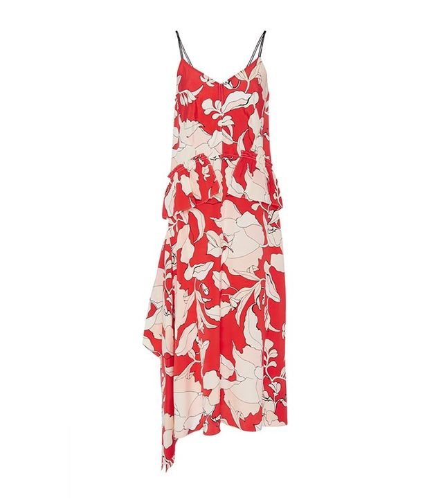 Derek Lam 10 Crosby Isabelle Peplum Silk Dress