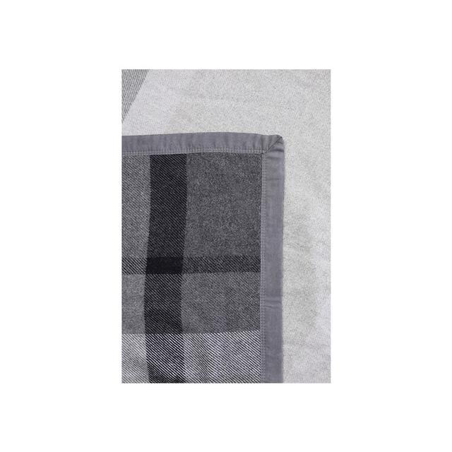 Australian House & Garden Merino Wool Blanket in Charcoal Check