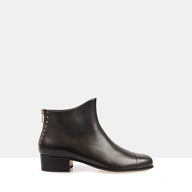 Beau Coops Beau 5 Black Leather Ankle Boots