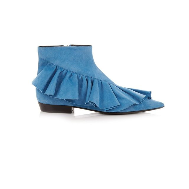 J.W. Anderson Ruffled Suede Ankle Boots