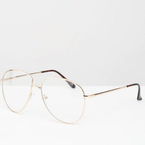 Geeky Metal Frame Clear Glasses