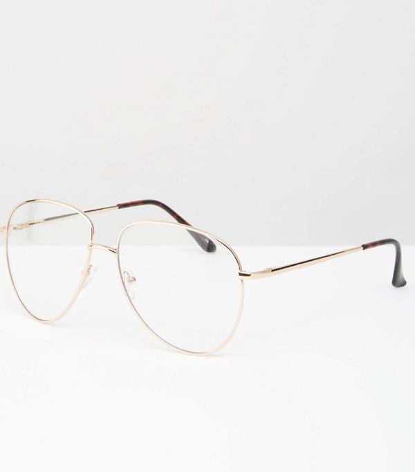 Geek chic glasses: ASOS Geeky Metal Frame Clear Glasses