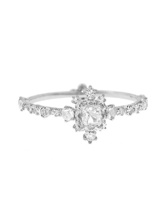 Kataoka 0.5 Ct Scalloped Frame Scattered Diamond Ring