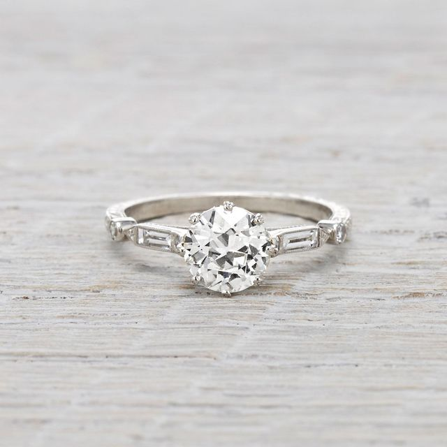 Erstwhile Jewelry Prism Shifter 1.1 Ct Diamond Engagement Ring