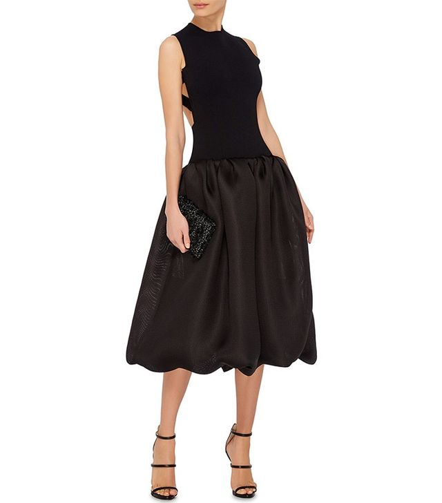 Oscar de la Renta Cross Back Dress