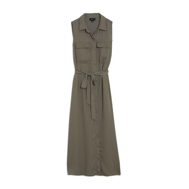 Who What Wear Sleeveless Midi Shirtdress