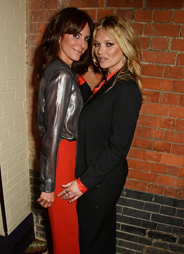 """Kate Moss with Net-A-Porter's Alison Loehnis at the Equipment launch party in London. Turns out, Mossy has long been a fan of the brand: """"I like that girl/boy thing. I'm a tomboy, really; I..."""