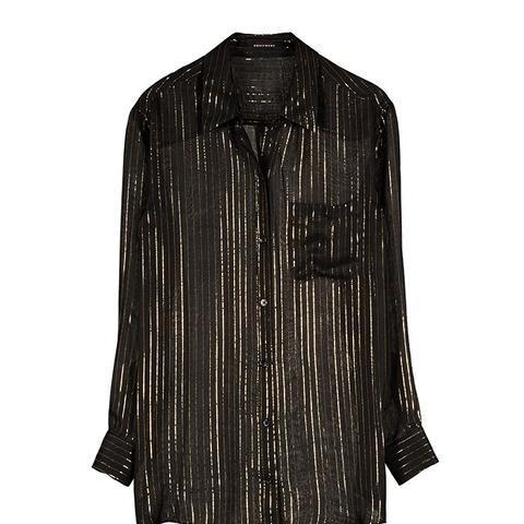 Daddy Metallic Stripe Shirt