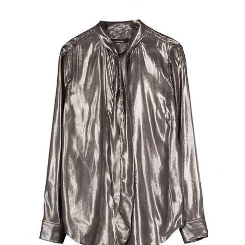 Slim Signature Lurex Blend Shirt