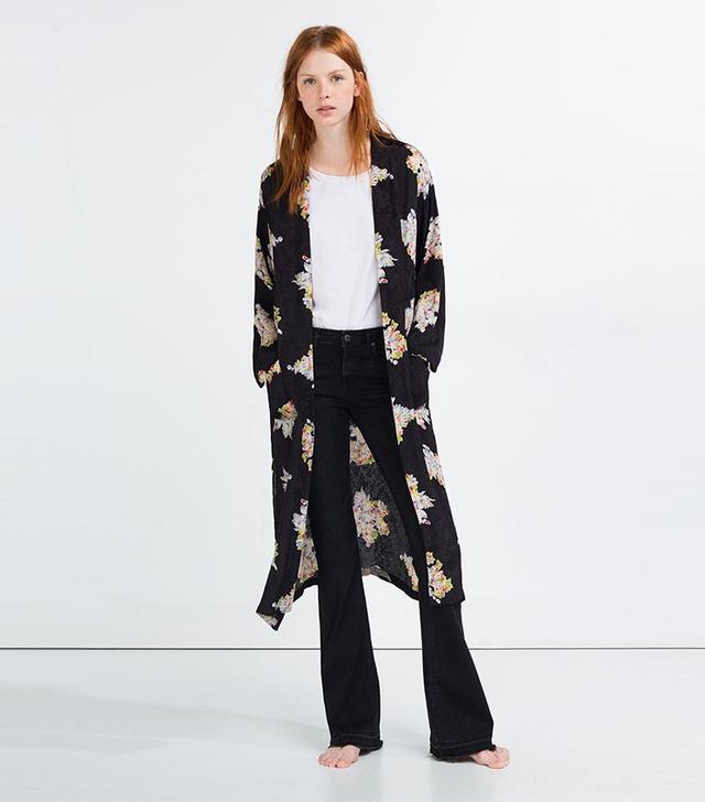 Zara Jacquard Print Kimono