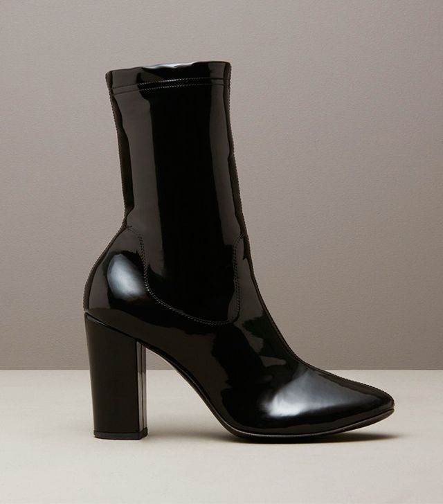 Kenneth Cole Black Label Krystal Patent Leather Boot