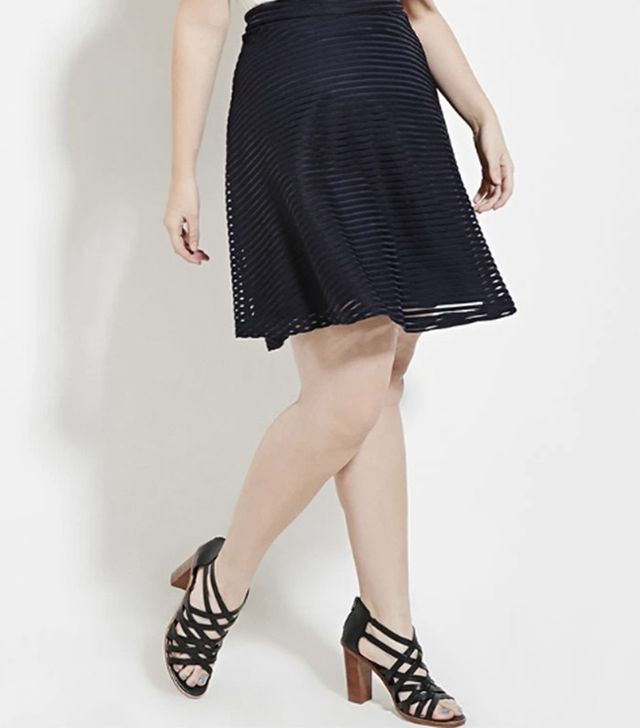 Forever 21 Plus-Size Shadow Stripe Skirt