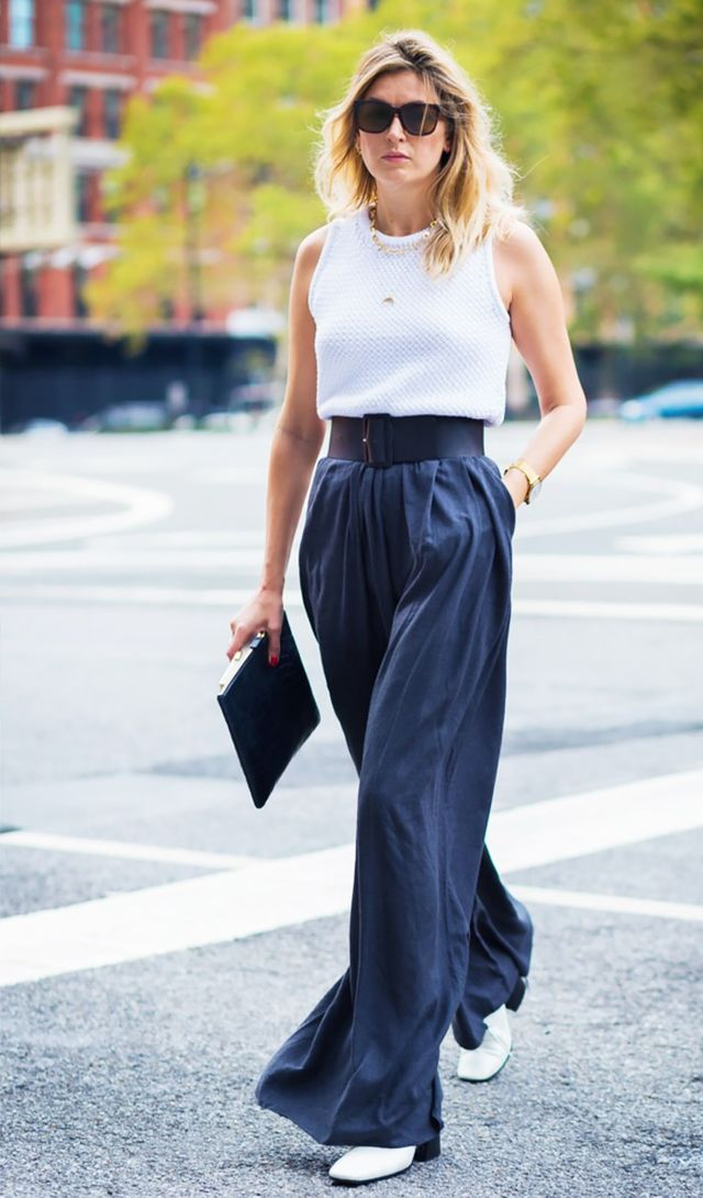 Day 29: Test out the breezy, wide-leg pants trend.