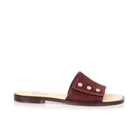 Stud-Embellished Suede Sandals