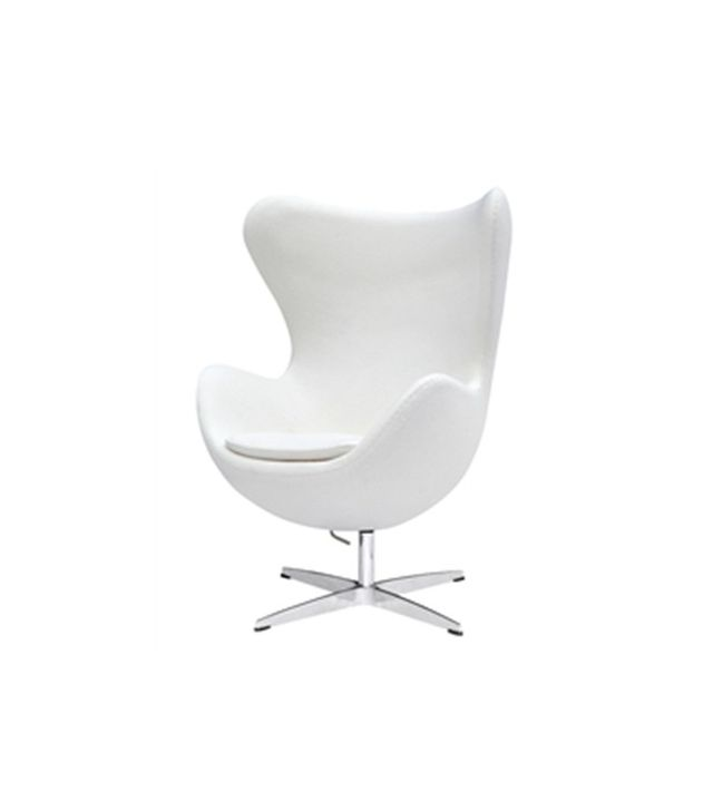 Arne Jacobsen Egg Chair in White Wool