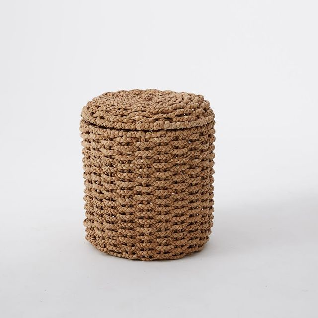 West Elm Abaca Tall Lidded Storage