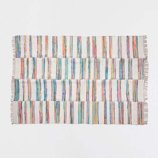 Zara Home Dyed Yarn Patchwork Rug