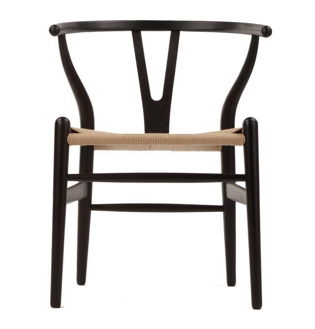 Matt Blatt Replica Hans Wegner Wishbone Chair in Black/Natural