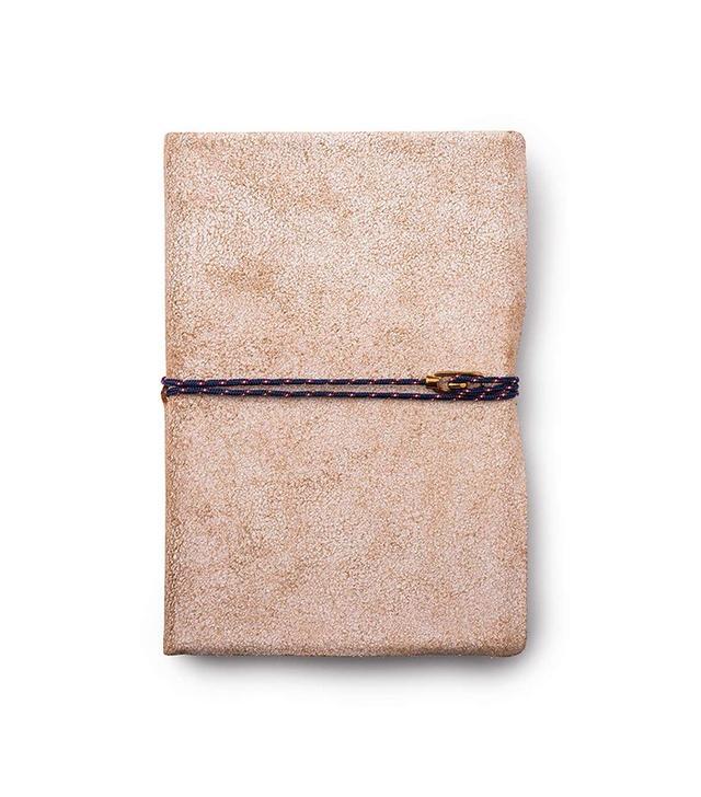Miansai Carson City White Leather Journal, Brass Clasp