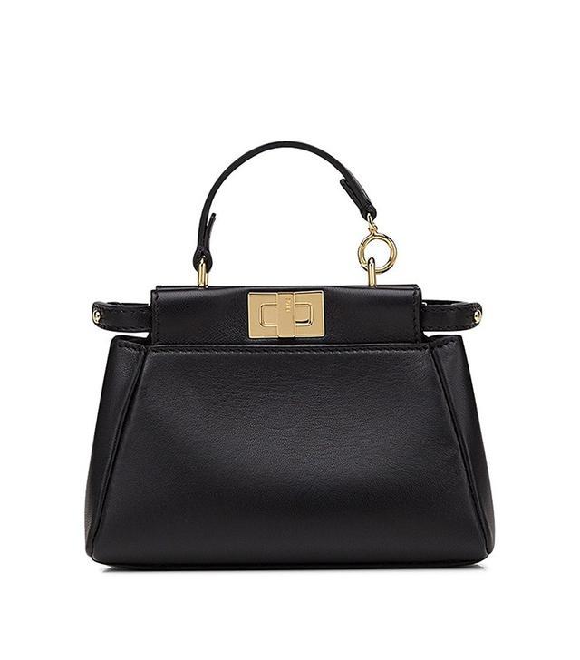 Fendi Micro Peekaboo Nappa Leather Bag
