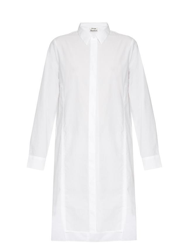 Acne Studios Rosamund Cotton-Piqué Shirtdress