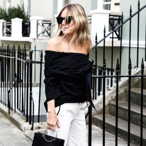 A Chic Black-and-White Look for Summer and Beyond