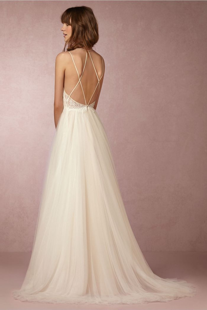 This Blogger S Wedding Gown Has The Most Stunning Back We Ve Ever Seen Who What Wear