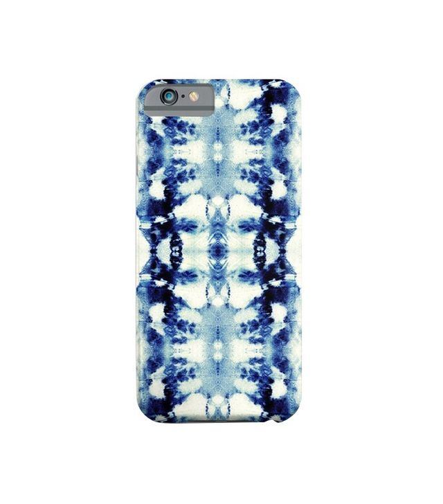 Nina May Designs Tie Dye Blues iPhone Case