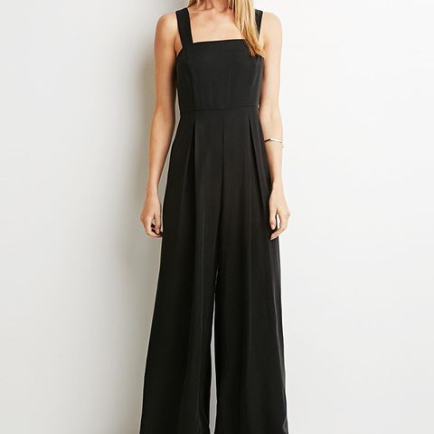Contemporary Pleated Wide-Leg Jumpsuit