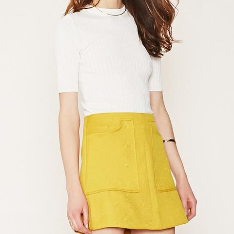 Contemporary Textured Mini Skirt