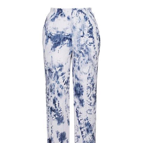 Tie-Dye Pleat Trousers