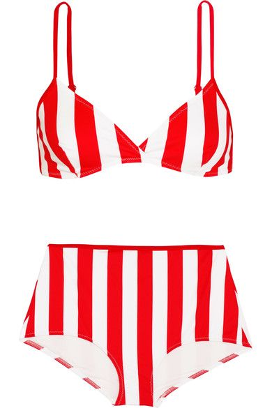 Solid and Striped The Elle Two-Tone Bikini